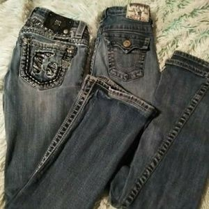 Little girls size 10-12 Miss Me and True Religion